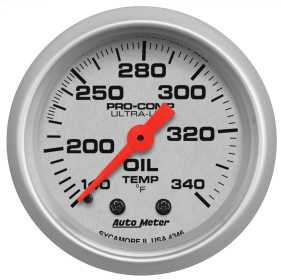 Ultra-Lite® Mechanical Oil Tank Temperature Gauge